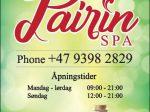 Pairin Spa Oslo - kontakt